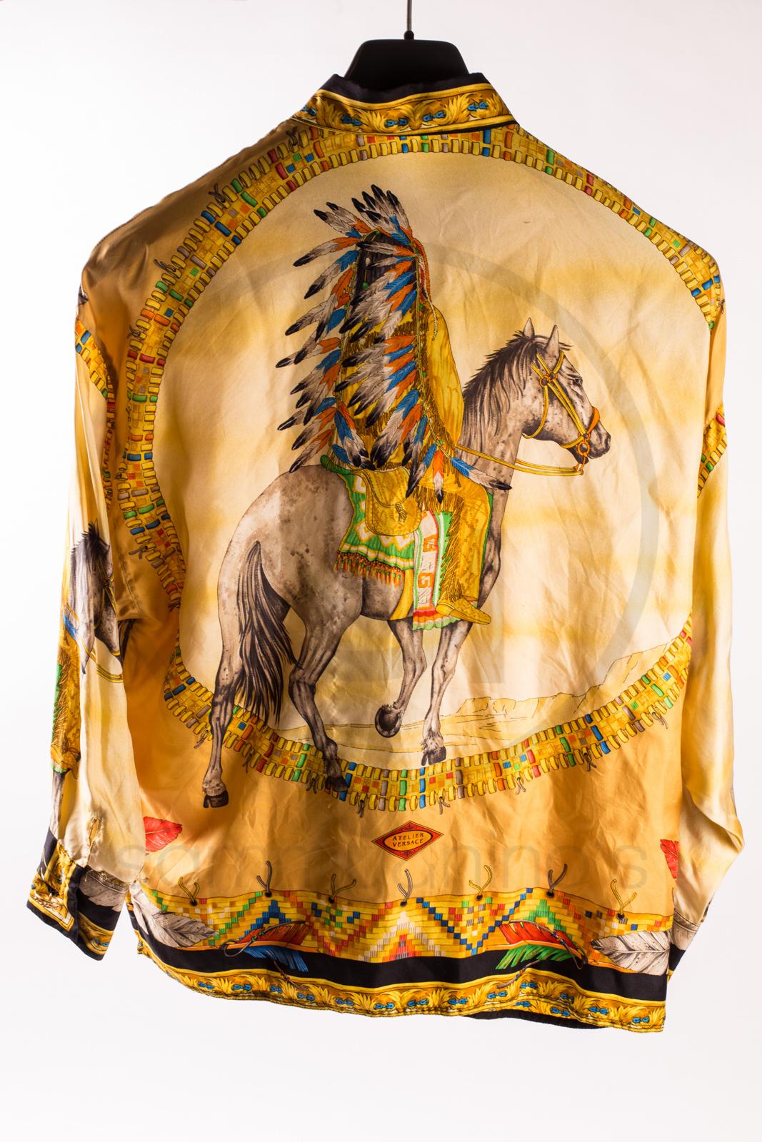 Gianni Versace Silk Shirt Indian Sammy Amp Nino S Store