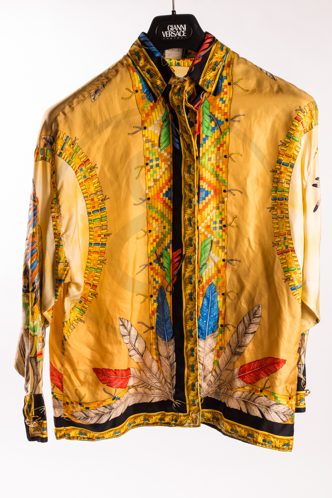 "Gianni Versace silk shirt ""Indian"" – Sammy & Nino's Store"