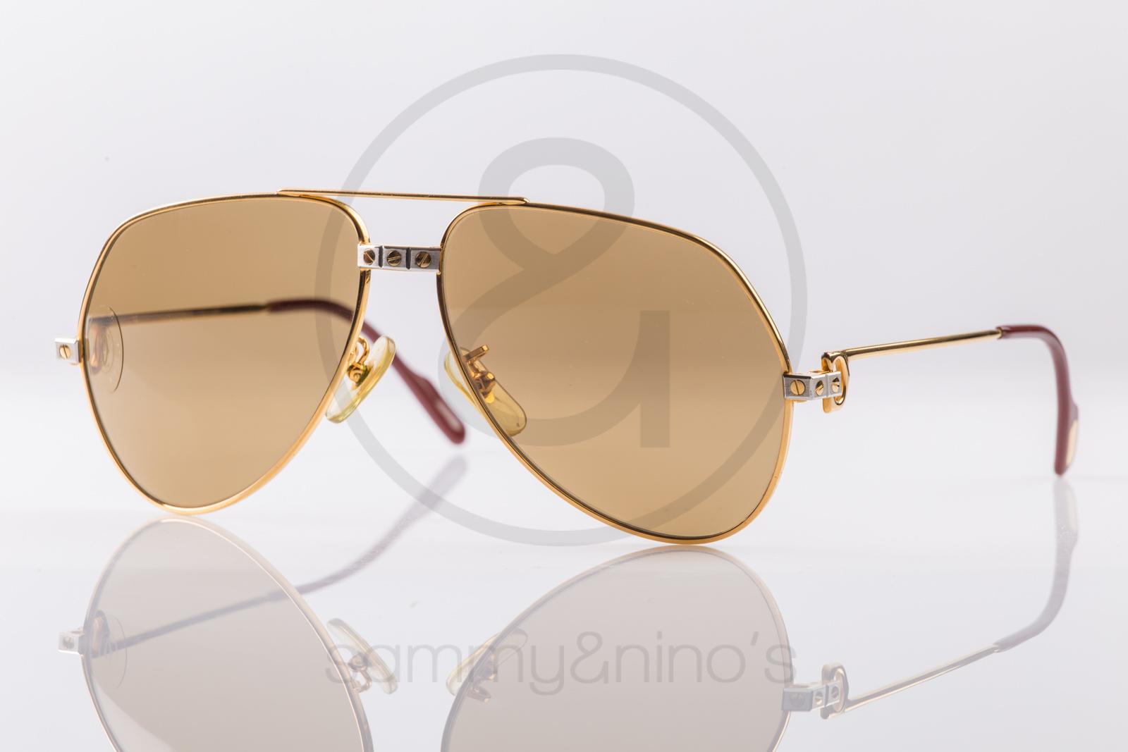 0497684bca Cartier Vintage Sunglasses Vendome Santos Gold Plated Sunglasses ...