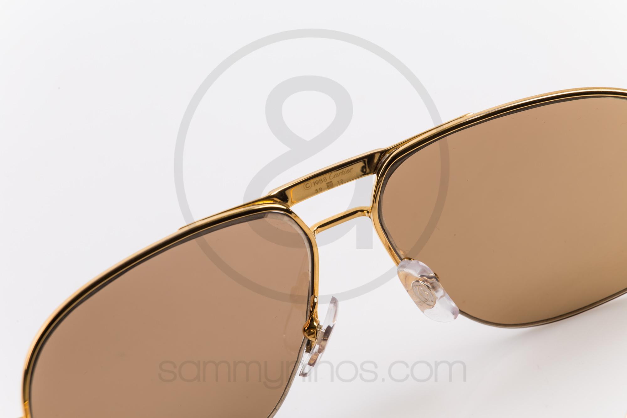 Cartier Gold Frame Sunglasses : Cartier Orsay 59-12 Sammy & Ninos Store