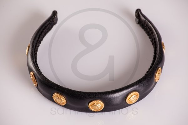 vintage Gianni Versace hair band medusa gold 1