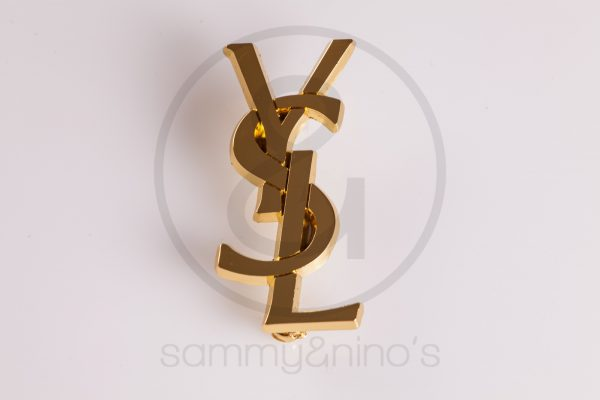 YSL pin brooch Yves Saint Laurent gold Vintage Sunglasses Accessories – Sammy Ninos-1085