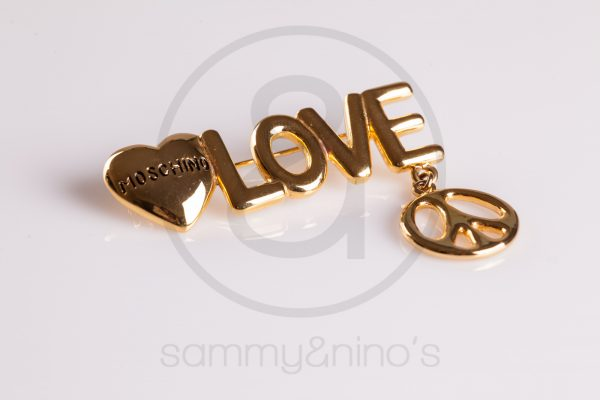 vintage Moschino brooch pin gold Vintage Sunglasses Accessories – Sammy Ninos-1007