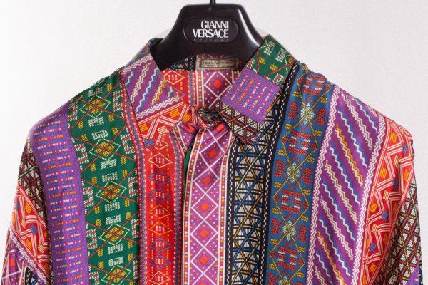 vintage Gianni Versace silk shirt 80's sammyninos 3-9