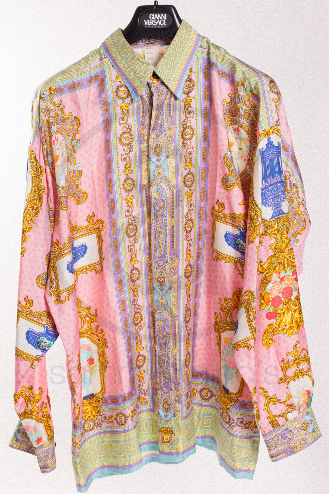 pink versace shirt