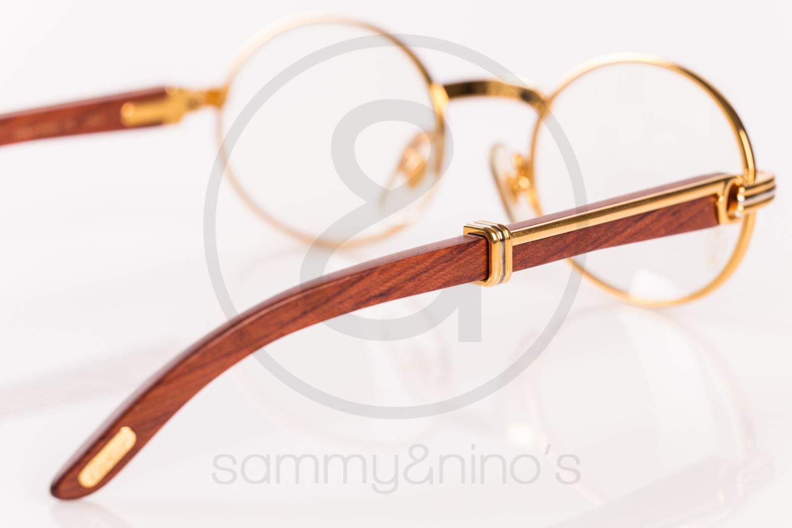 703d52213ab Cartier Sunglasses Blue Wood