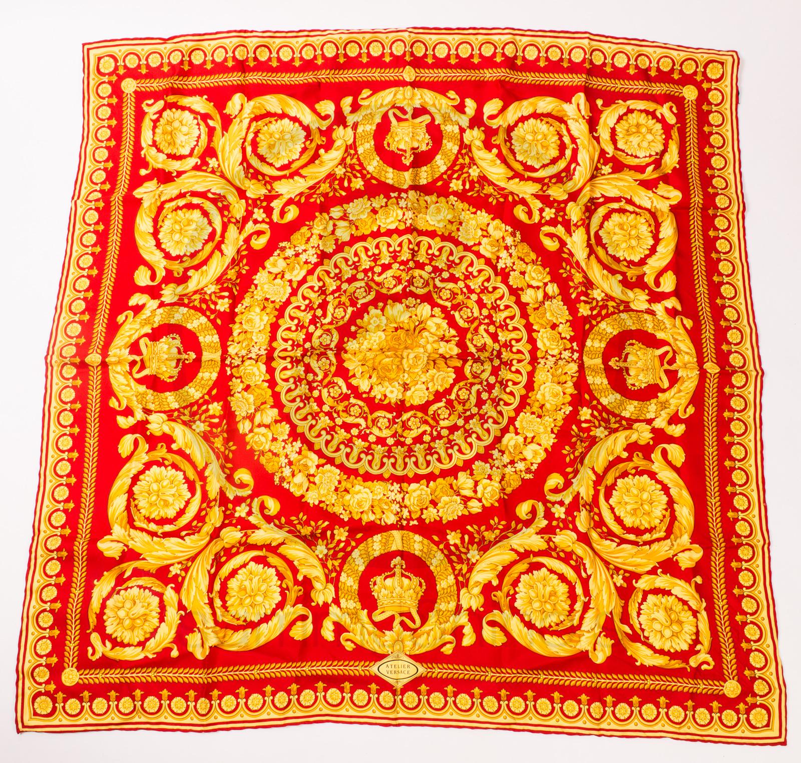 096b2409cb0e Gianni Versace silk foulard scarf – Sammy   Nino s Store