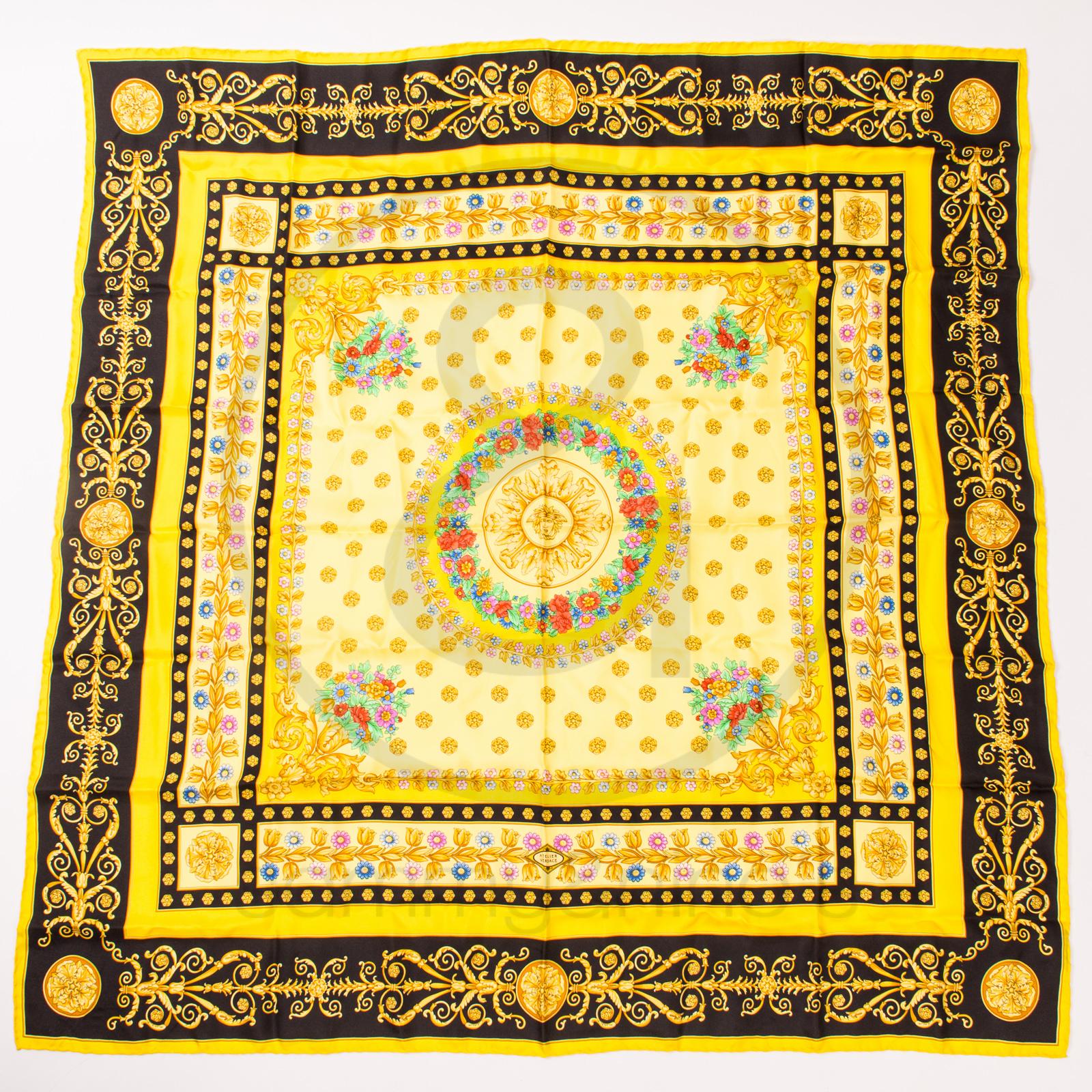 Gianni Versace silk foulard scarf – Sammy & Nino's Store