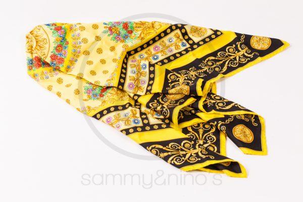 vintage Gianni Versace silk foulard atelier versace print sammyninos 5