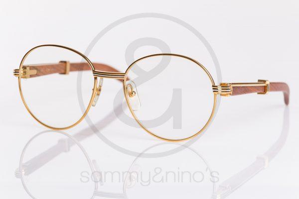 8560513ba1a8 vintage Cartier sunglasses Bagatelle 55-18 wood gold sammyninos 5