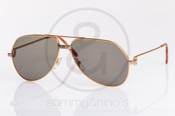 2021ff5142750 vintage Cartier sunglasses Vendome Santos gold sammyninos 2