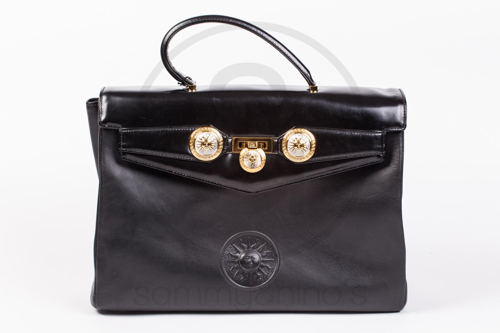 7bba0b74dd00 Gianni Versace leather purse bag large – Sammy   Nino s Store