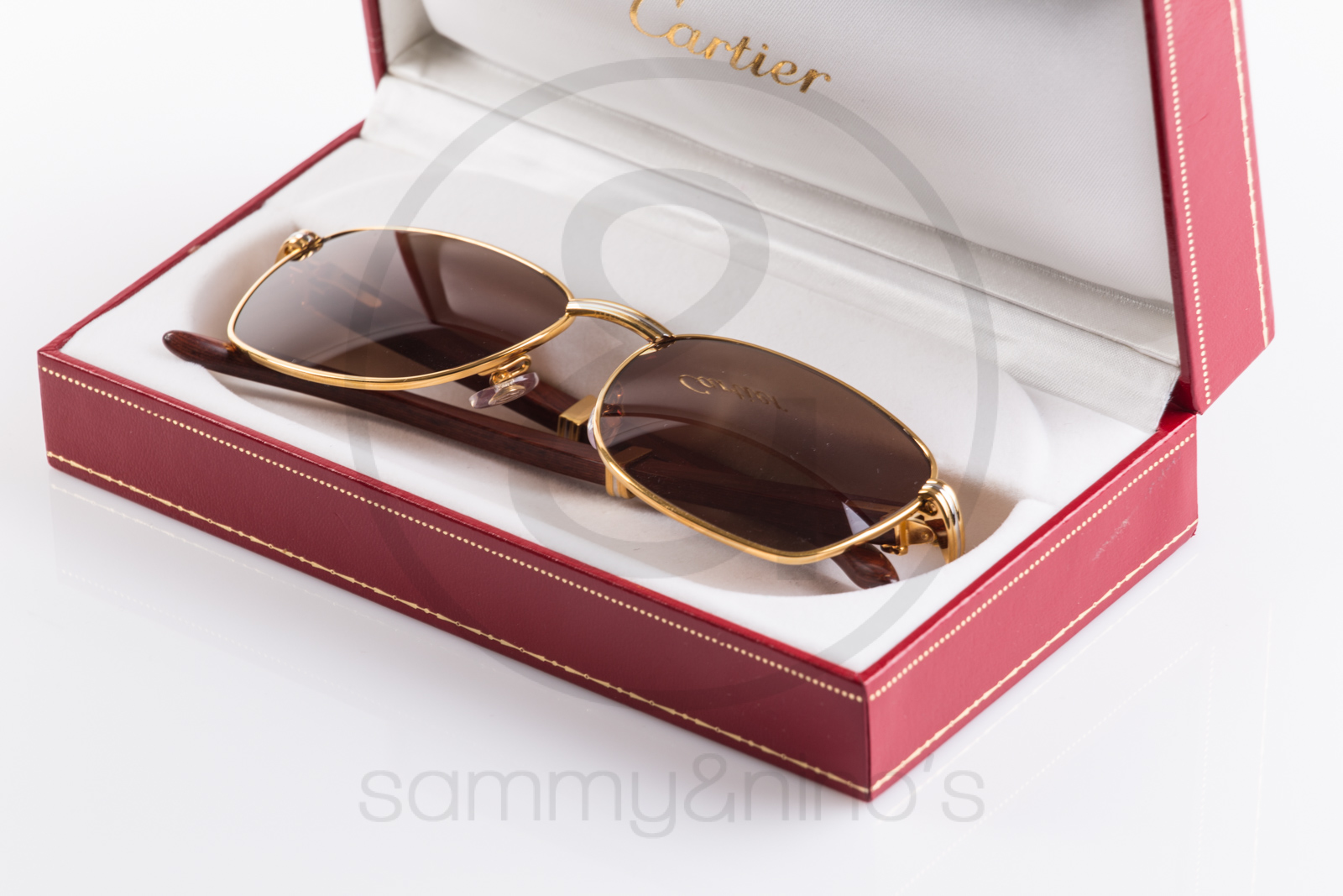 d999a6b168a1 Cartier Santos Dumont Aviator Platinum Wood Sunglasses - Restaurant ...