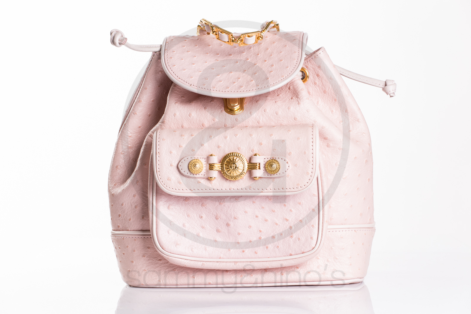 5832d73a32 Previous  Next. HomeSOLD OUTGianni Versace backpack ostrich leather