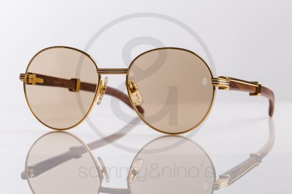 4f2c72e376454 vintage Cartier bagatelle sunglasses wood gold sammyninos ...